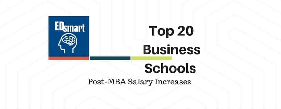 Top 20 Business Schools by post-mba salary increases