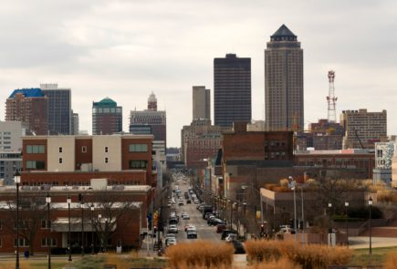 Downtown Des Moines Iowa Midwest Big City Main Street