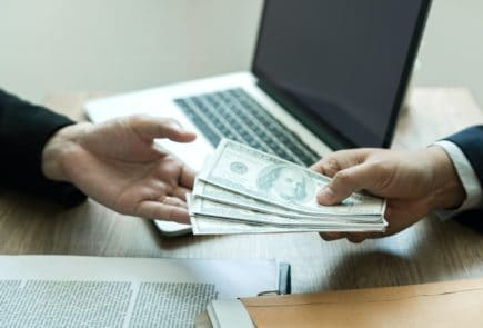Entrepreneurs are receiving money that is a bribe of their partners.